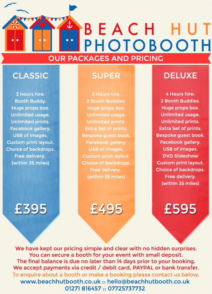 North Devon Photobooth Hire - Tunnels beaches